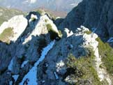Via Normale Monte Libertan - Crestina prima della vetta
