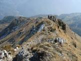 Via Normale Monte Stalletti - La cresta che sale da Caregno