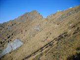 Via Normale Monte Alta Guardia - I pendii erbosi da traversare