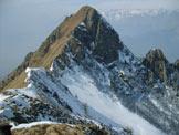 Via Normale Monte Alta Guardia - Cresta finale e cima visti dalla cresta W