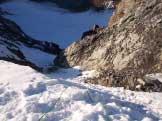 Via Normale Gran Zebrù - Il canalino visto dall'alto