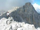 Via Normale Cima Alta di Riobianco - In vetta, dietro è la Cima del Vallone