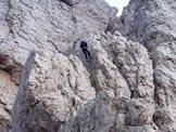 Via Normale Cima Alta di Riobianco - Ultima doppia prima della forcella