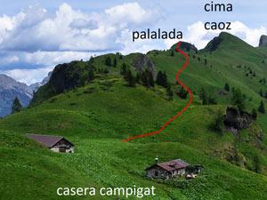 Via Normale Monte Palalada