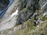Via Normale Monte I Muri - Nel tratto attrezzato