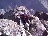 Via Normale Monviso - Cresta Est - Tratto di arrampicata in cresta