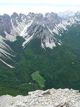 Via Normale Crodon di Scodavacca - Dalla cima verso la Val Talagona e gli Spalti di Toro