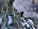 Via Normale Cervino - Via normale italiana - Tratto di cresta ghiacciata