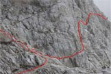 Via Normale Monte Agner - Verso la forcella, la via alla cima
