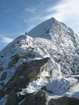 Via Normale Gran Pilastro - La cresta finale