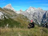 Via Normale Monte Lodina - Sulla cima del Lodina