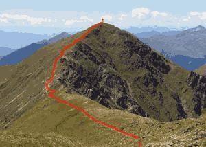 Via Normale Hochhorn - Corno Alto