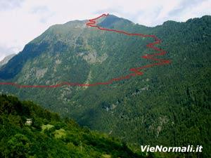 Via Normale Monte Blisie