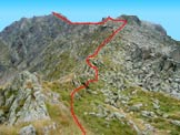 Via Normale Monte Blisie - Cresta di salita dal P.so Blisie