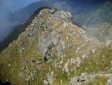 Via Normale Monte Blisie - Cresta di salita vista dalla cima
