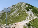 Via Normale Mittagskogel - La cresta di salita dalla forcella