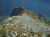 Via Normale Monte Vaccio - La ghiaiosa cresta finale