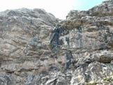 Via Normale Cima Talagona - Prima doppia dalla cima.
