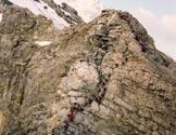 Via Normale Ortles - La parete attrezzata
