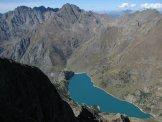 Via Normale Pizzo Recastello - Dalla vetta verso il Lago Barbellino, Redorta e Coca