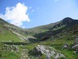 Via Normale Pizzo Zerna - Pizzo Zerna visto dalla zona del Lago di Val Sambuzza