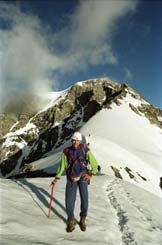 Via Normale Ortles - Coston di Dentro - Sul nevaio sopra lo Spuntone di Sopra