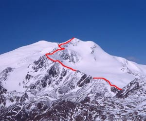 Via Normale Cevedale - Punta NE (Zufallspitze)