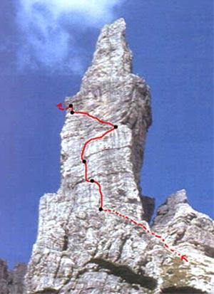 Via Normale Campanile di Val Montanaia