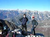 Via Normale Monte Fratte - Sulla cima verso Duranno e Cima Preti