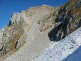 Via Normale Monte Feltraio - Il ghiaione di salita