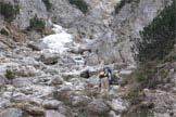 Via Normale Cima Palughet - Salendo nel canale prima di forc. Palughet