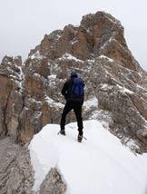 Via Normale Cime Centenere - In cima, verso il Duranno.