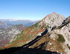 Via Normale Monte Cjavalz