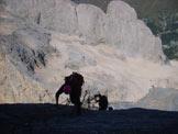 Via Normale Marmolada - Punta Penia (cresta W) - Vista sul ghiacciaio del Piccolo Vernel