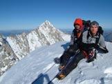 Via Normale Mont Dolent - Sulla vetta del Dolent