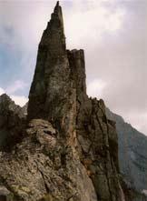 Via Normale Campanile di Salarno (spigolo N) - La cima dal Passo Dosazzo