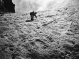 Via Normale Pizzo Redorta - Il bel salto del fronte del ghiacciaio