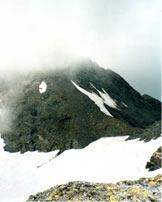 Via Normale Pizzo Tamb� - La cresta con gli evidenti sfasciumi