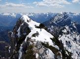Via Normale Monte Crostis - In cresta, presso la vetta