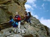 Via Normale Levanna Orientale - Breve passaggio esposto sulle placconate sopra i gradoni granitici