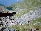 Via Normale Punta Cristalliera - Risalendo dal lago