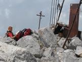 Via Normale Pizzo Camino Camuno da SW - Sulla cima