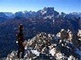Via Normale Cima Salvella - Panorama dalla cima verso il Pelmo