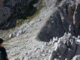 Via Normale Monte Ajarnola - Salita lungo il canalone