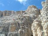Via Normale Monte Paterno - La ferrata sull´ultimo ostacolo prima della cima