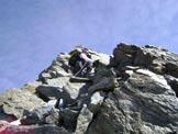 Via Normale Punta San Matteo - Cresta S - Salendo la cresta sud.