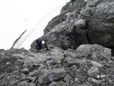 Via Normale Monte Cristallo - Le placche appoggiate lungo la cresta