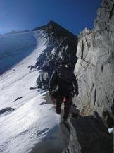 Via Normale Collalto - Sul margine del ghiacciaio