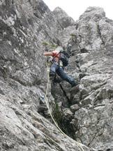 Via Normale Zucco di Pesciola - Cresta Ongania - Passaggi di scalata