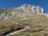 Via Normale Monte Ferrante - Il versante di salita